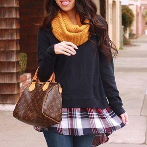 Staccato • Plaid Hem Sweater